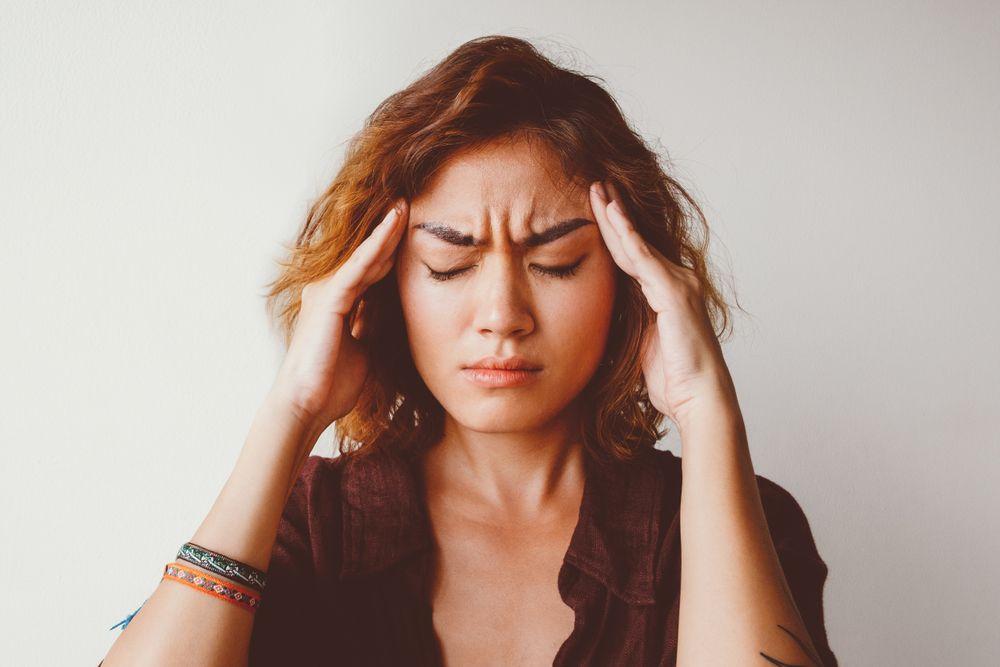 Mujer con estrés