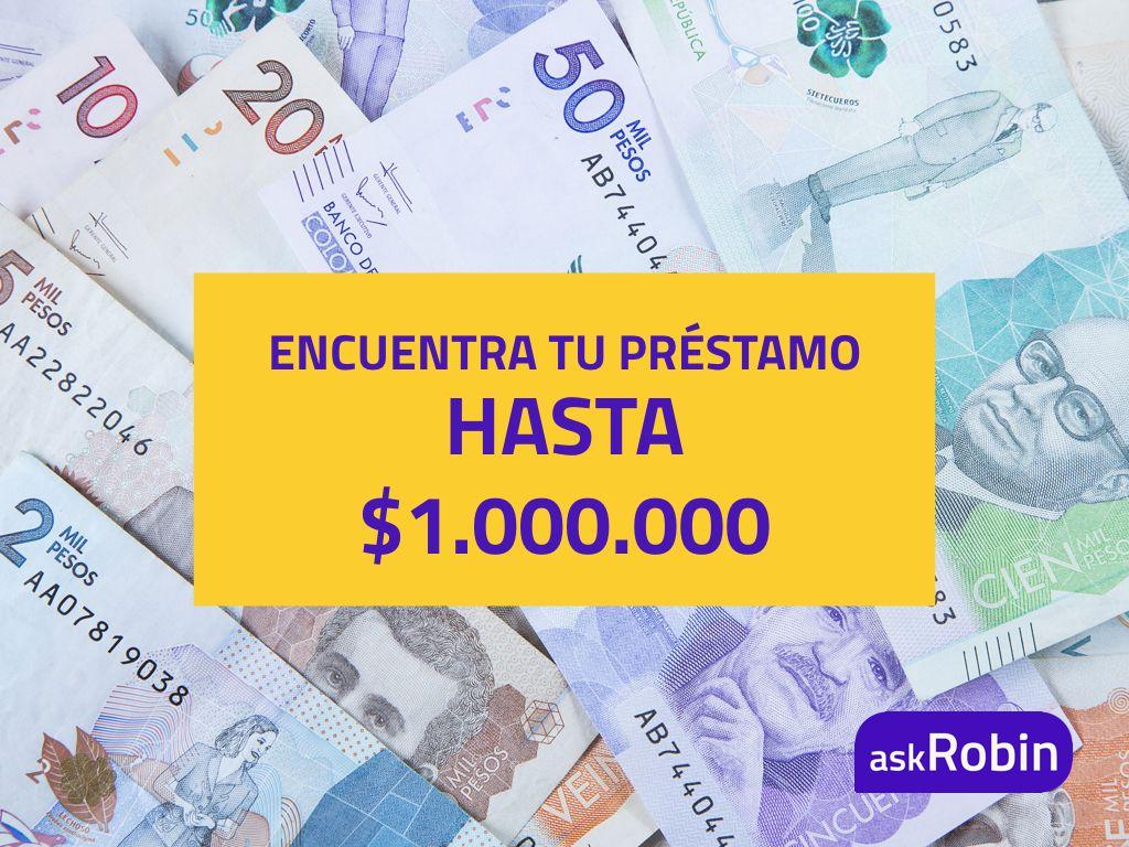 askRobin es tu buscador de préstamos gratuito - solicita hasta 1.000.000 pesos en línea