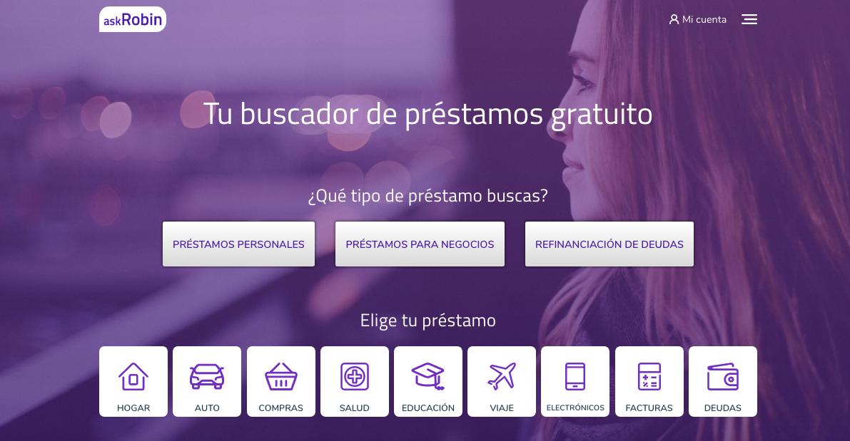 Existen 9 tipos de préstamos personales con solicitud en línea en askRobin