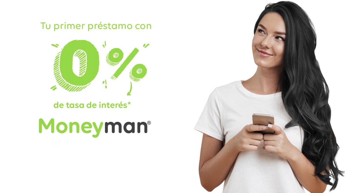 Primer préstamo gratis con Moneyman con 0% de tasa de interés