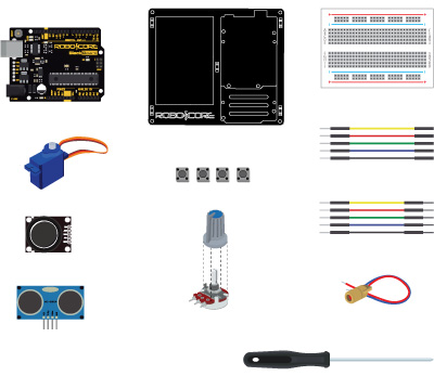 Kit Iniciante V8 para Arduino