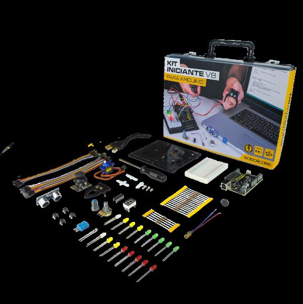 Kit Iniciante V8 para Arduino - RoboCore