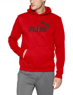 CASACO PUMA ESSENTIALS FREECE HOODY RED