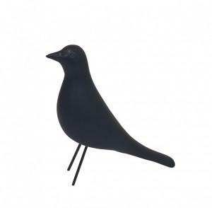Escultura Pássaro Grande Preto em Cerâmica da Mart
