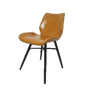 Cadeira Verona em Pelíssima Marrom e Metal Preto