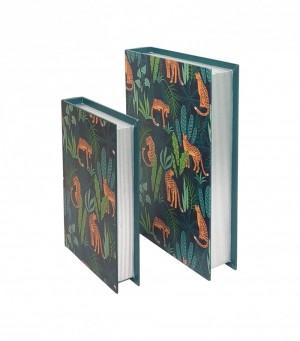 Kit de Caixa Livro Tropical da Mart - 2 peças