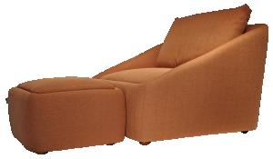Poltrona Fold Terracota c/ Puff