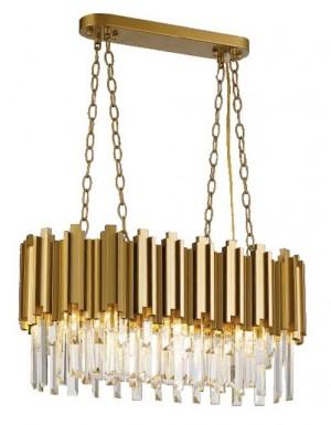 Pendente Organ Dourado com Cristais Transparentes