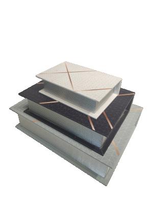 Kit Livro Caixa - Branco, verde e preto