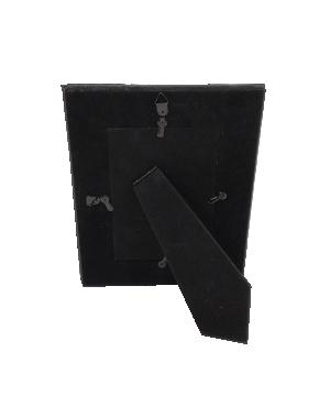 Porta-retrato Pequeno Preto com Revestimento Sintético da Mart
