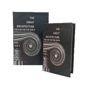 Kit de Caixa Livro The Great Architecture - 2 peças