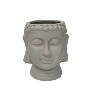 Cachepot Buda Cinza em Cerâmica da Mart
