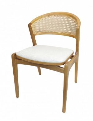 Cadeira Brenda em Madeira e Encosto com Palha Sextavada