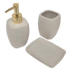Kit para Banheiros Branco - 3 peças
