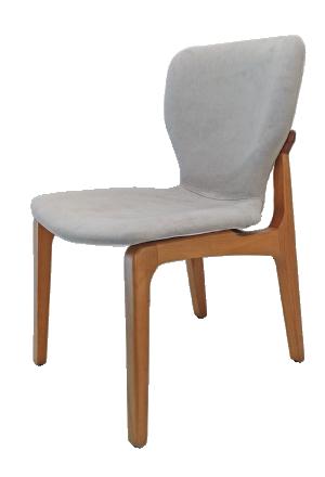 Cadeira Sofia com Base Madeira Natural
