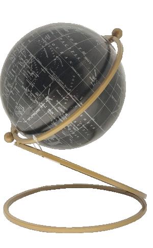 Globo Decorativo de Resina e Metal