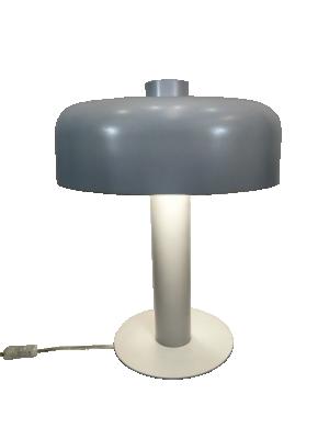 Abajur Alumínio Branco Luz Direta e Indireta