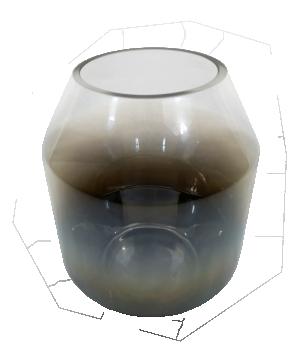 Vaso de Vidro Black Niquel