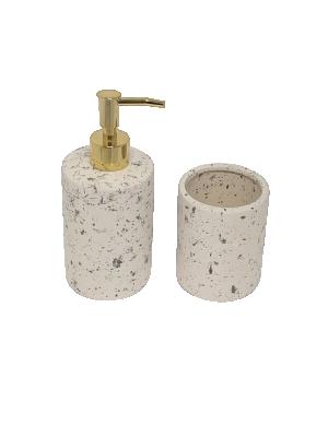 kit para Banheiros Areia em Cerâmica - 2pçs
