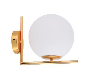 Arandela Globe Line Dourado com Vidro Leitoso