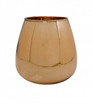 Vaso Conhaque Decorativo Cobre Espelhado