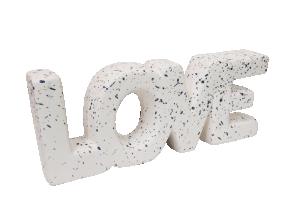 Escultura Love em Cerâmica e Granilite da Mart