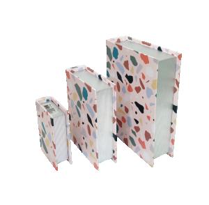 Kit de Caixa Livro Pedras Coloridas da Mart - 3 peças