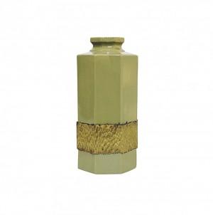 Vaso Maracanã Verde com Dourado