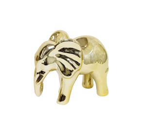 Escultura Elefante Grande Dourado em Cerâmica da Mart