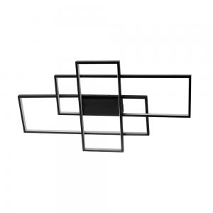 Plafon com Led Modular Loby Preto