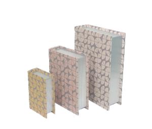 Kit de Caixa Livro Geométrico da Mart - 3 peças