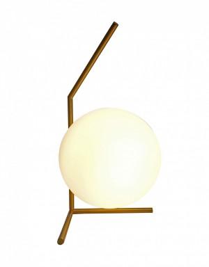 Abajur de Mesa Globe Dourado com Globo em Vidro