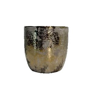 Vaso de Cerâmico Ouro Velho