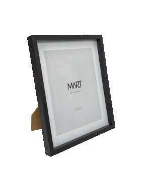 Porta-retrato Preto em MDF com Borda Interna Branca