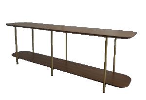Mesa de Apoio Sofá Table Ellos com Pés de Metal