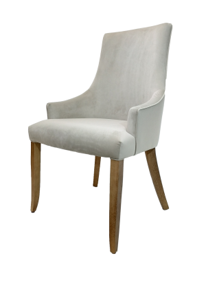 Cadeira Glise na cor Bege com Pés Amêndoa