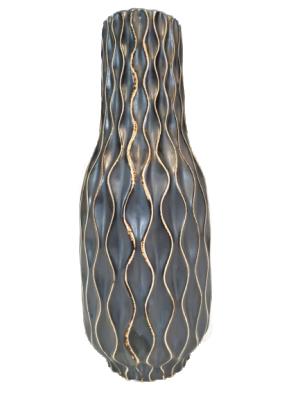 Vaso de Cerâmica com Desenhos Geométricos