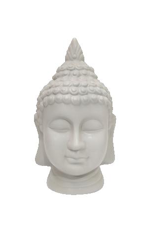 Escultura Buda Cinza em Cerâmica da Mart