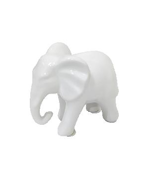 Escultura Elefante Pequeno Branco em Cerâmica da Mart