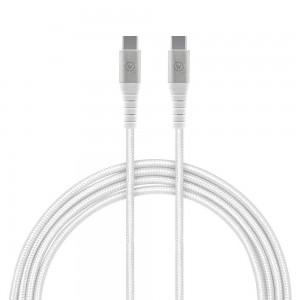 Cabo de Dados USB-C TPE Branco Cordado iWill