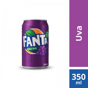 Refrigerante Fanta Uva Normal Lata 350ml