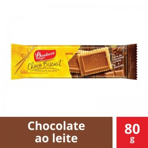 Biscoito Bauducco Choco Biscuit Chocolate ao Leite 80g