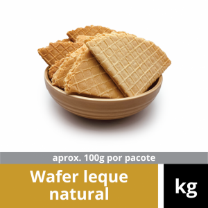 Biscoito Wafer Leque Natural Kg