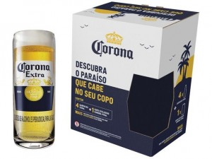 Kit 4 Cervejas Corona 330ml + Copo
