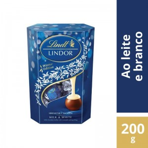Chocolate Lindt Lindor Leche Y Blanco 200g