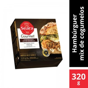 Hamburguer Seara Gourmet Mix Cogumelos 320g