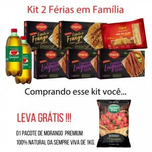 Kit 2 Férias em Família | Grátis 1kg de Morango Premium 100% Natural da Sempre Viva