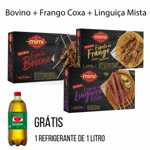 Kit Trio Caixinhas |  Bovino + Frango + Linguiça