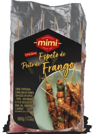 Espeto Frango Peito Pacote 600g