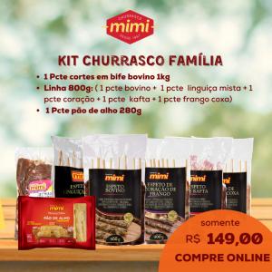 Kit Churrasco Família Espetinhos Mimi
